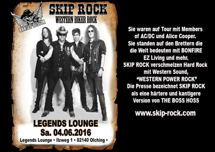 SKIP ROCK – Outlaws Tour 2016