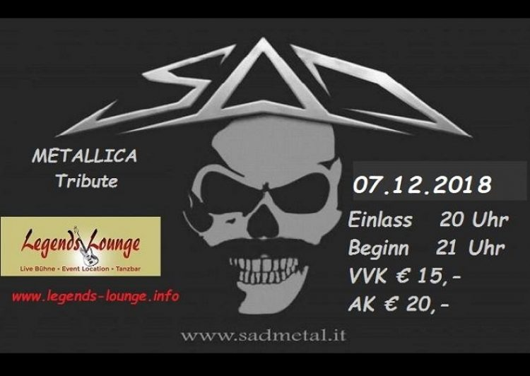 SAD-Metallica Tribute • Live