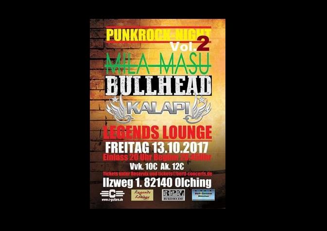 2. Punk Rock Nacht - Kalapi * Bullhead * Mila Masu